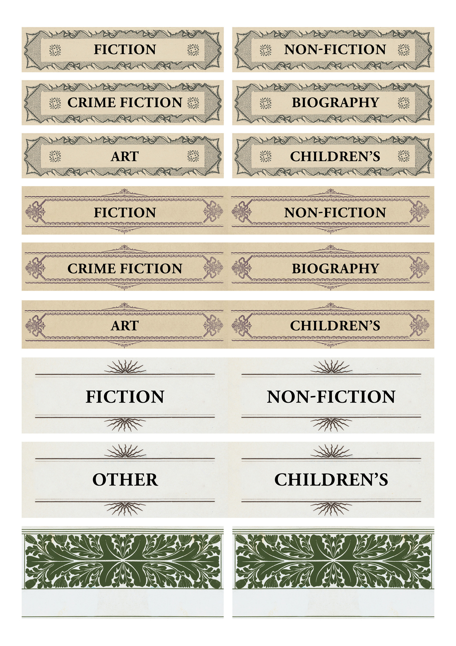 image about Library Shelf Labels Printable named Begin a Library Pop-up Libraries